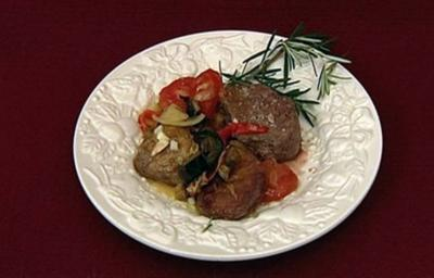 Blue Main-Course - Rinderfilet mit Ofengemüse (Jimi Blue Ochsenknecht) - Rezept