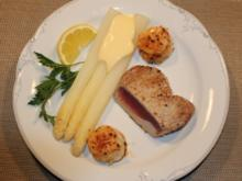 Thunfischstaek mit feinem Spargeel - Rezept