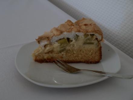 Rhabarber- Baiserkuchen - Rezept