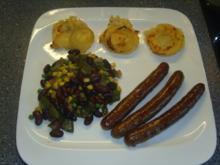 Merguez mit Cowboy-Kartoffel-Muffins und Countrygemüse - Rezept