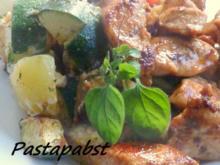 Parmesan Gemüse mit Honig Huhn - Rezept