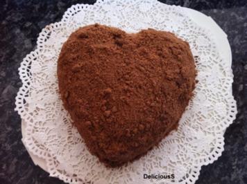 Rezept: Maulwurfkuchen - Herzkuchen - Muttertagskuchen - Bananenkuchen