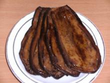 Beilage: Aubergine / Melanzane, gebacken und mariniert - Rezept