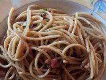 Spaghetti aglio e olio mit Bacon - Rezept