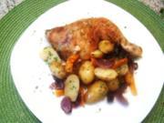 Pikante Hähnchenkeulen - Rezept