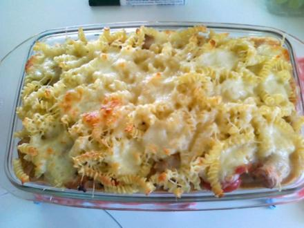 Gemüse-Nudel – Fleisch Pfanne aus dem Ofen - Rezept