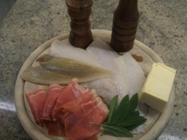 Fisch: Scholle - Saltimbocca di passera di mare - Rezept - Bild Nr. 2