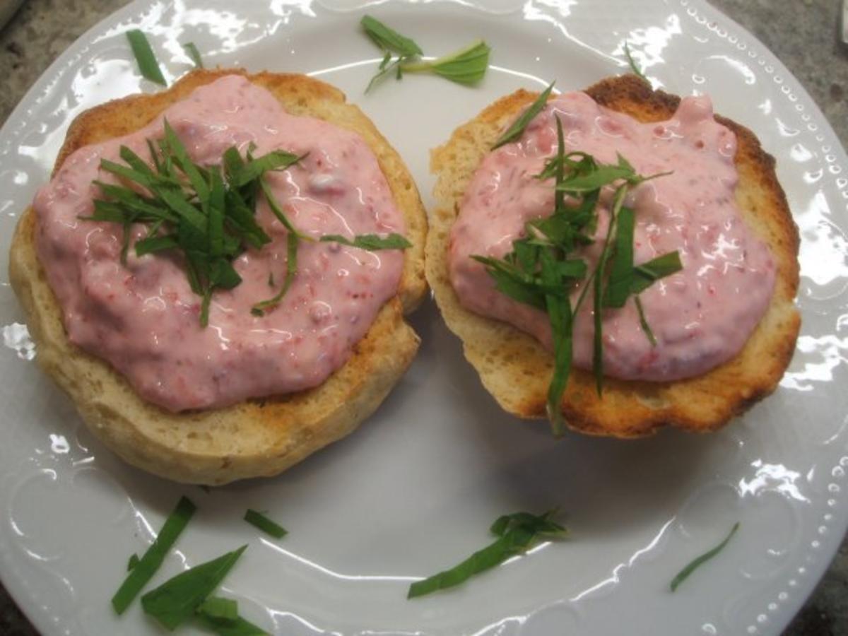 Frischkäse: Brotaufstrich aus Frischkäse mit Erdbeeren - Rezept By lunapiena