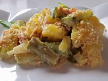 Weiß-grüner Spargel-Kartoffel-Auflauf - Rezept
