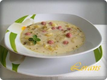 ※ Gurkensuppe mit Mettbällchen ※ - Rezept