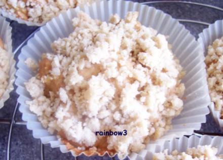 Backen: Gewürzte Apfel-Muffins mit Streusel - Rezept