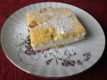 Quarkkuchen mit Eierschecke ... - Rezept