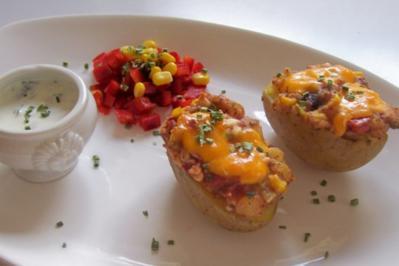 Rezept: Mexikanische Ofenkartoffeln mit Dip