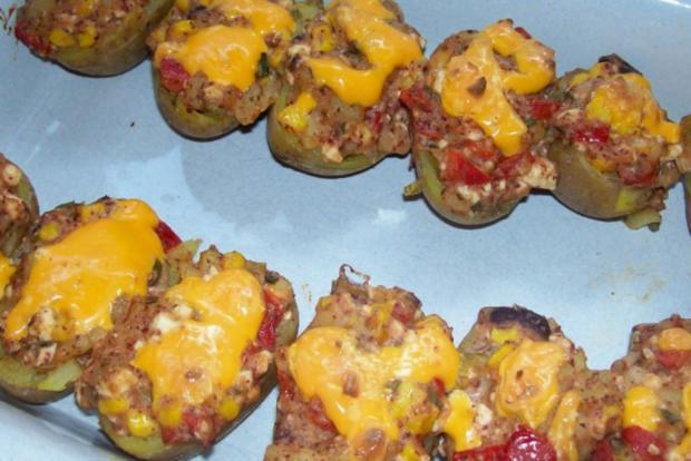 Mexikanische Ofenkartoffeln mit Dip - Rezept - Bild Nr. 7