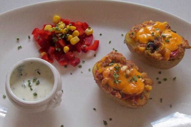Mexikanische Ofenkartoffeln mit Dip - Rezept - Bild Nr. 8