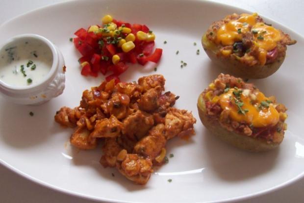 Mexikanische Ofenkartoffeln mit Dip - Rezept - Bild Nr. 9