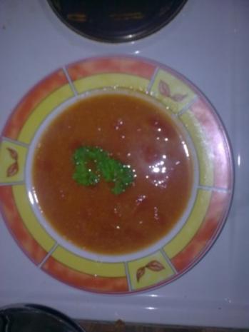 Frische Tomatensuppe mit Reis - Rezept