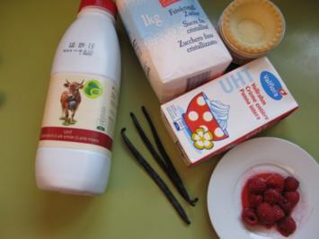Eiscreme Vanille und Himbeere - Rezept