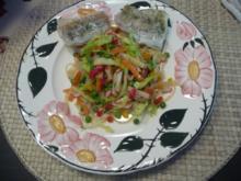 Salat : Glasnudelsalat mit gedämpftem Fisch - Rezept