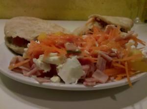Abendbrot: Gefülltes Pitabrot - Rezept