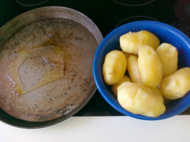Gesund  Kartoffel -- Pikante Kartoffel Ecken aus dem Ofen.. - Rezept - Bild Nr. 7