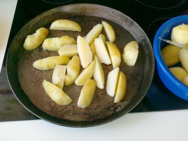 Gesund  Kartoffel -- Pikante Kartoffel Ecken aus dem Ofen.. - Rezept - Bild Nr. 8