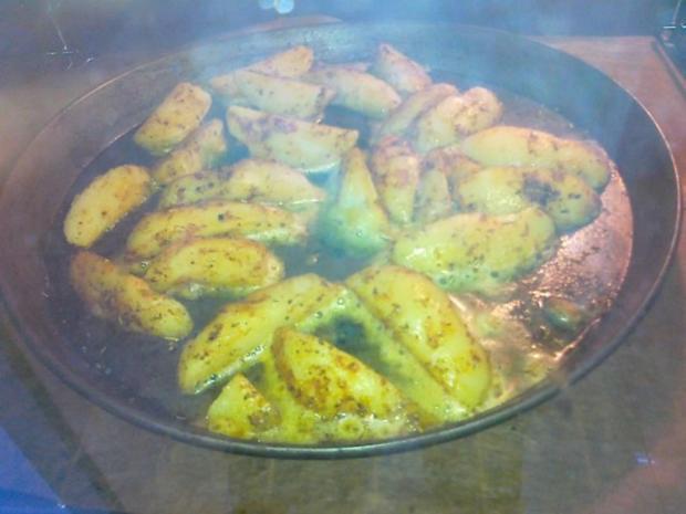 Gesund  Kartoffel -- Pikante Kartoffel Ecken aus dem Ofen.. - Rezept - Bild Nr. 11