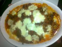 Schnitzel Bolognese mit Nudeln aus dem Ofen  --  Schnell und Lecker - Rezept