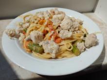 Fisch: Victoriaseebarsch auf Gemüse-Rahmpasta - Rezept