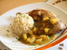 Hähnchenkeulen in Kokos-Curry-Soße - Rezept