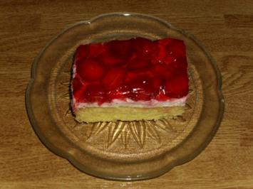 Rezept: Erdbeerschnitten