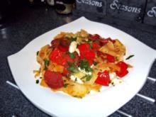 Chorizo-Fleckerl mit rotem Spitzpaprika - Rezept