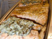 Lachs mit Mantel - Rezept