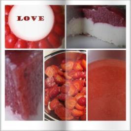 Erdbeermus Kokostorte ohne Boden zum Valentinstag - Rezept - Bild Nr. 16