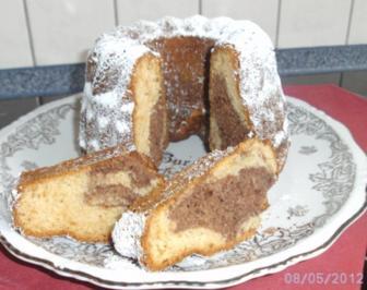 Rezept: Mini-Hermann........Marmorkuchen mit Mandeln