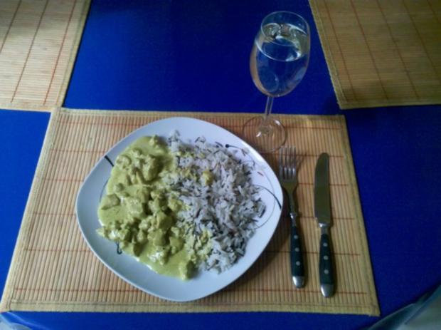 Geflügel: Green-Curry-Sahnegeschnetzeltes mit Wildreis - Rezept - Bild Nr. 7