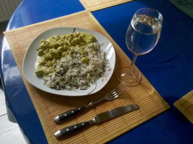 Geflügel: Green-Curry-Sahnegeschnetzeltes mit Wildreis - Rezept - Bild Nr. 8