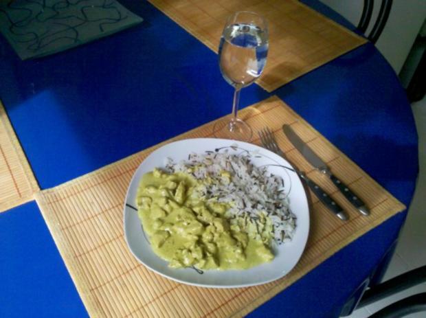 Geflügel: Green-Curry-Sahnegeschnetzeltes mit Wildreis - Rezept - Bild Nr. 9