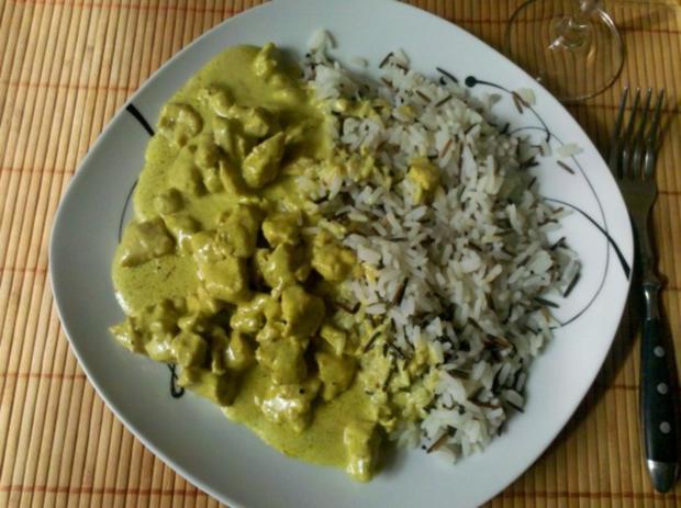 Geflügel: Green-Curry-Sahnegeschnetzeltes mit Wildreis - Rezept - Bild Nr. 10