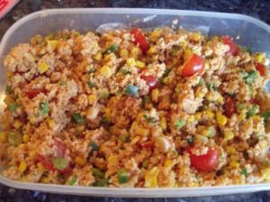 Couscous-Salat mit Mais und Sojasoße - Rezept