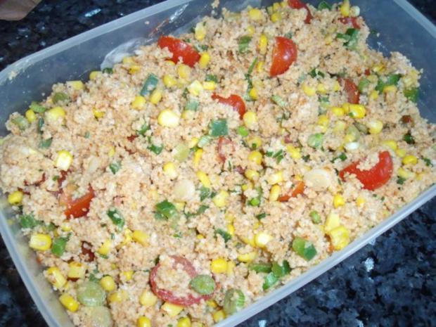 Couscous-Salat mit Mais und Sojasoße - Rezept - Bild Nr. 2