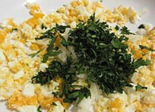 Warmer Kartoffelsalat mit Ei und Knoblauch - Rezept - Bild Nr. 13