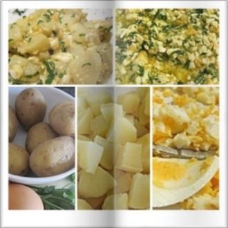 Warmer Kartoffelsalat mit Ei und Knoblauch - Rezept - Bild Nr. 14