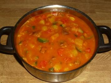 Grillfleisch-Gemüse Eintopf - Rezept