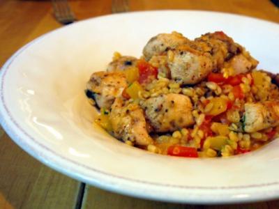 Scharfes Huhn im Weizen - Rezept