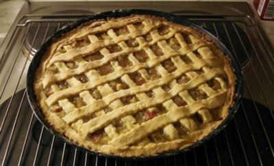 Rezept: Rhabarber-Pie