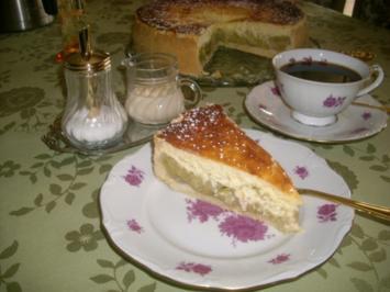 Rezept: Rhabarbertorte mit Eierschecke>>