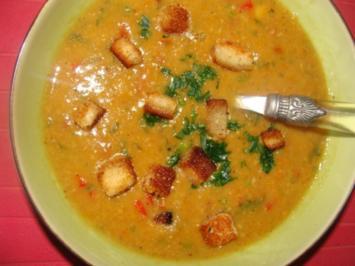 Suppe : Kanarische Kichererbsensuppe mit Chorizoeinlage - Rezept