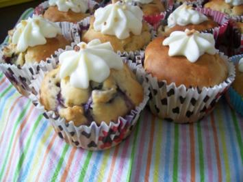 Blaubeer Cupcakes - Rezept