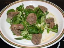 Hähnchen Leber Mariniert auf Feldsalat - Rezept